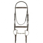 Ovation® Dark Brown Collection Fancy Stitched Raised Padded Bridle
