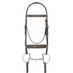 Ovation® Dark Brown Collection Fancy Stitched Wide Padded Bridle