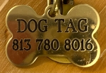 Dog Tag Nameplate