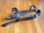 Custom Made Heavy Hunter Bridle - Full w/ Rubber Reins